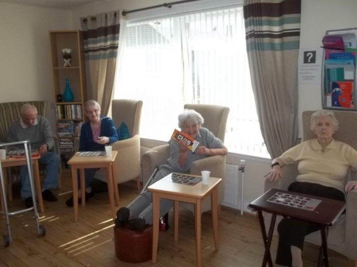 Three tenants enjoying Bield's support service