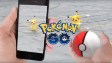 Pokemon Go Press Image showing a user playing game