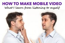 Image of Craig Sinclair Videographer from Holyrood PR for his blog about how to make mobile video