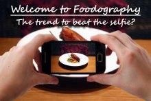 Food-Selfie - smartphone taking photo of plate