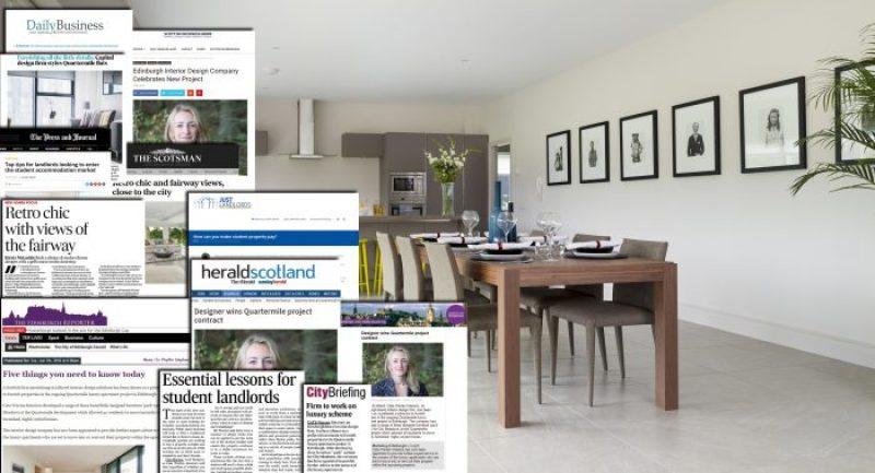 Interior designer enjoys profitable burst of pr success for Interior design agency edinburgh