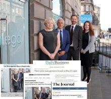 Scottish PR Coverage montage for Boyd Legal featuring newly recruited staff and press cuttings