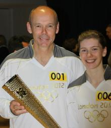 PR in Edinburgh helps Katie Ford, pictured with the London 2012 Olympic torch