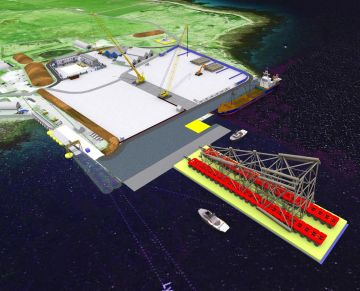 Artist impression of DSM Demolition's proposed oil and gas decommissioning site