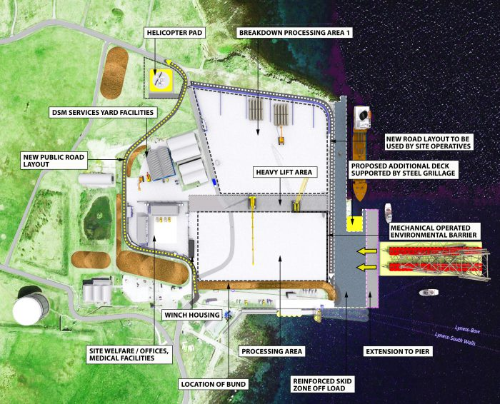 Site layout of DSM Demolition's proposed oil and gas decommissioning site