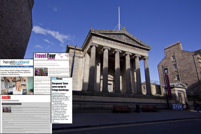 PR expertise generated Press coverage overlaid on Surgeons' Hall frontage