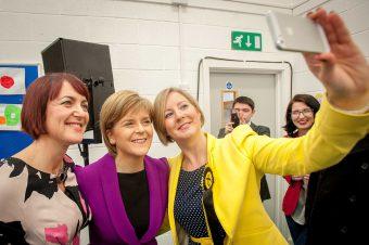 Sturgeon understands the PR power of selfies