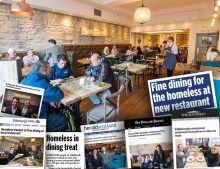 Montage of media coverage generated by successful restaurant PR