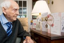 Photography PR Captures Willie with all his 100th Birthday cards