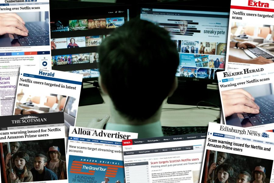 Image of Newspaper Coverage Over a computer user used to show success of Tech PR