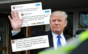 Trump Twitter Collage made by Edinburgh PR agency