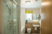 PR Photos of a Law Gardens showhome bathroom