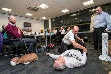 PR Photography of CALA Colleages and Currie Community Council receiving lifesaving training