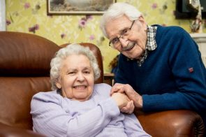 Wartime sweetheards John and Edith MacKay, celebrating their 71st Valentines day together in a Bupa's Balcarres Care Home in Dundee.