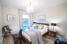 Bedroom 2 at Dalmeny Park Apartments, South Queensferry is captured by PR Photography