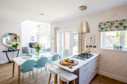 CALA Homes Kinleith Mills Kitchen/Dining Room as shown by PR Photgraphy