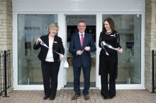 CALA Representatives, Jenny Thomson and Kirsty Summers join Councillor Keith Robson at the opening of the new show homes at Liberton Braes (PR Photography: Wullie Marr)