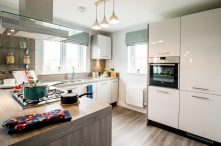 The kitchen at one of the new show homes at Liberton Braes (PR Photography: Wullie Marr)