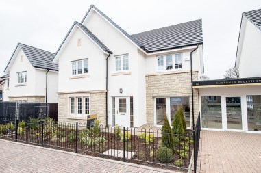 The exterior of one of the new show homes at Liberton Braes (PR Photography: Wullie Marr)