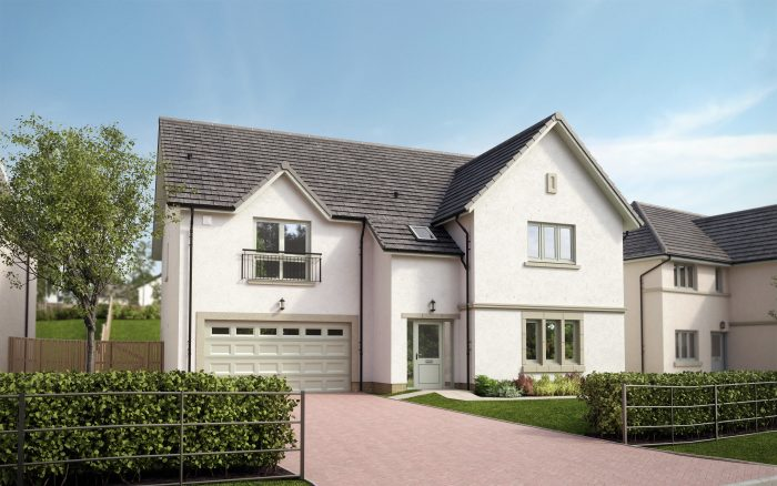 Scottish PR agency CGI pic of CALA Homes development, The Oaks