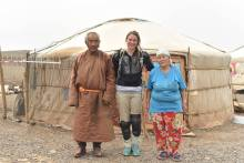 Zara Morris Trainer in Mongolia. Mackie's of Scotland Food and drink PR.