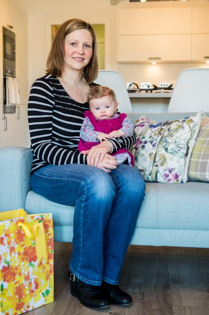 Cala Craigpark newborn babies - Freya McShane with baby Mila for Pr Photography