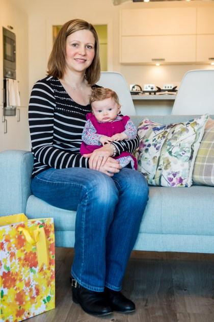 Cala Craigpark newborn babies - Freya McShane with baby Mila for Pr Photography