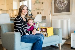 Residents of the new CALA Homes development at Craigpark, in Ratho, near Edinburgh, have welcomed two new neighbours - a pair of newborn babies. Celebrated in property PR photography