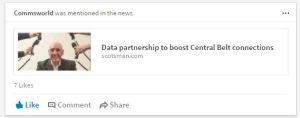 Commsworld Linkedin In The News Tech PR agency