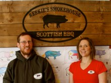 Craig and Felicity from Reekie's Smokehouse for Food and Drink PR