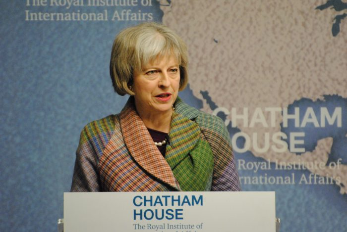 An image of Prime Minister Theresa May for Edinburgh PR blog post