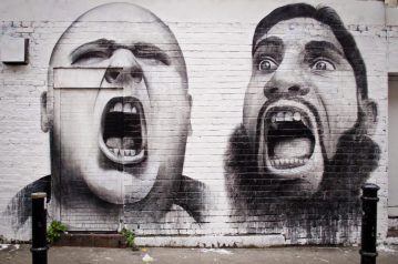 Scream graffiti used by Scottish PR Agency