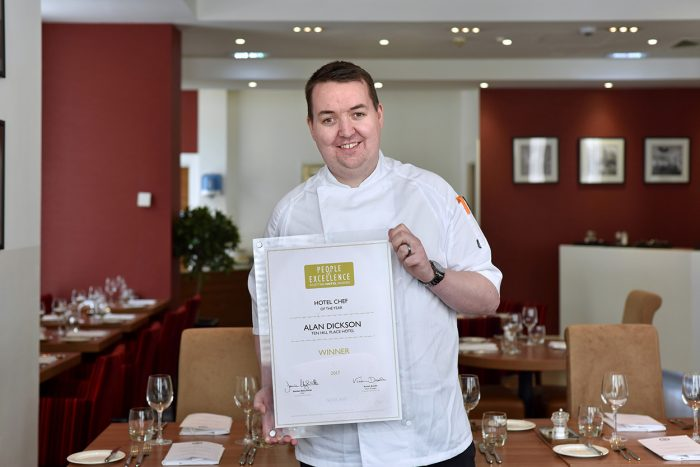 Alan Dickson RCSEd Chef of the year photo for food and drink pr story
