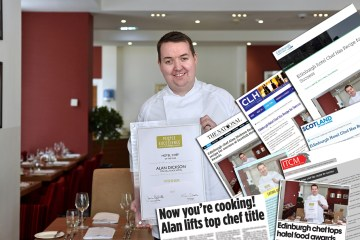 Alan Dickson Chef of the Year with Food and Drink PR Coverage