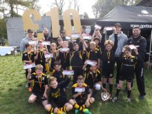 Youth members of Currie Rugby Club - Donation given as part of Property PR strategy
