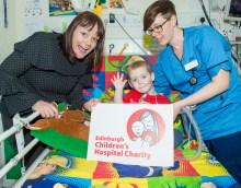 PR photography for Edinburgh Children's Hospital Charity