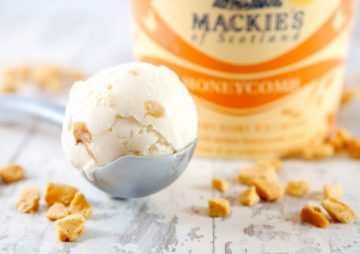 Mackie's honeycomb ice-cream food and drink pr