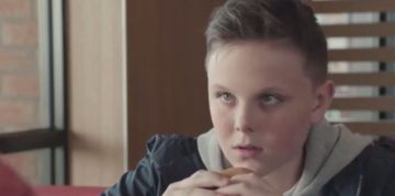 McDonald's; boy; advert; food and drink PR,