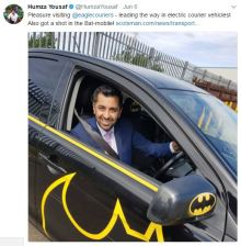 Humza Yousaf visit to Eagle Couriers Scottish PR