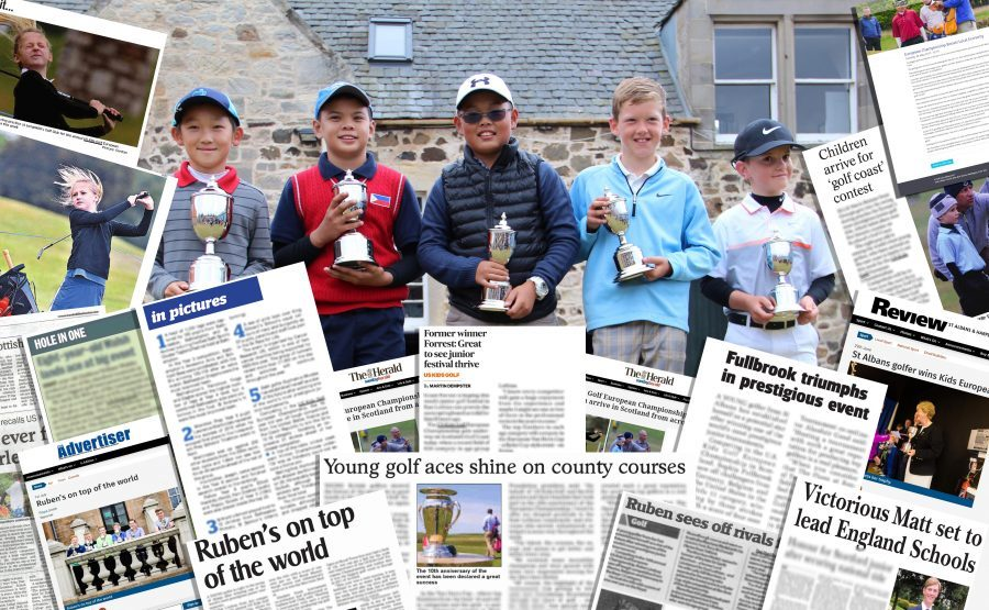 Winners pic overlaid with press cuttings by Scottish PR Agency