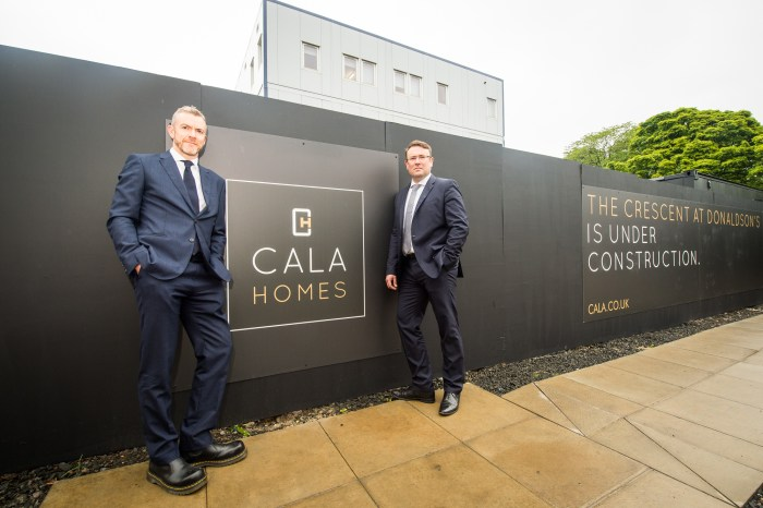 Construction PR photography for CALA Homes