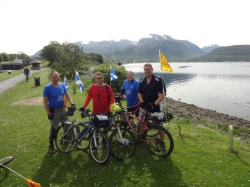 Cyclepaths Group Caledonian Canal by Care PR