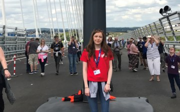 Alana on the bridge to be shared with Edinburgh PR agency