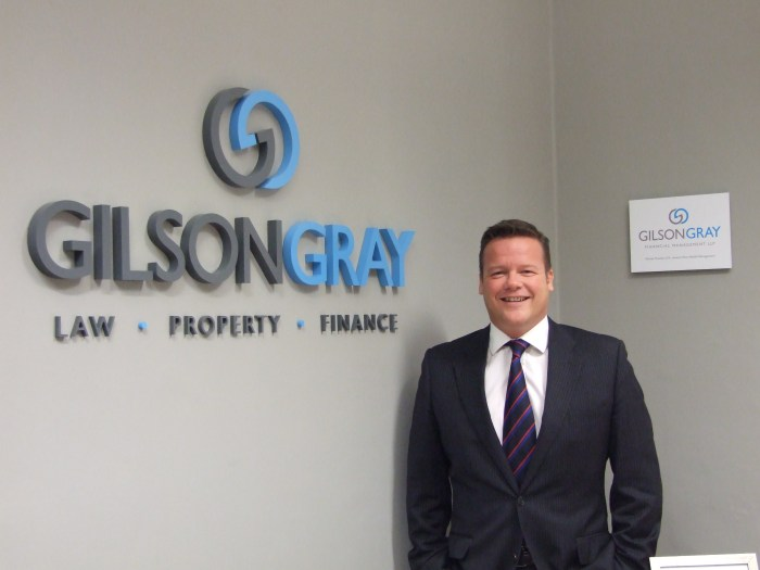 Property PR photo of Matthew Gray of legal firm Gilson Gray