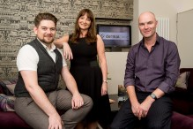 Jackie Partridge, Jarrod Partridge and Daniel Foxcroft. Edinburgh PR.