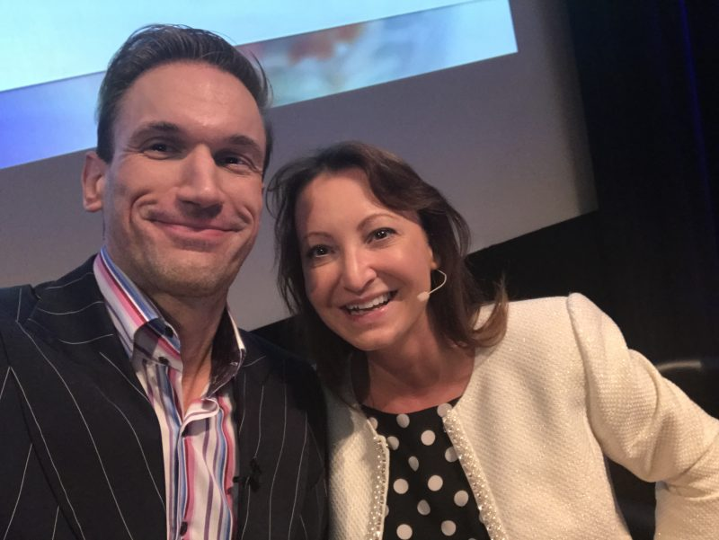 Jackie Partridge and Dr Christian, story on Dermal Clinic by Holyrood PR agency in Scotland