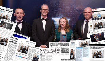 Media coverage of PR success press release from Cyber Awards