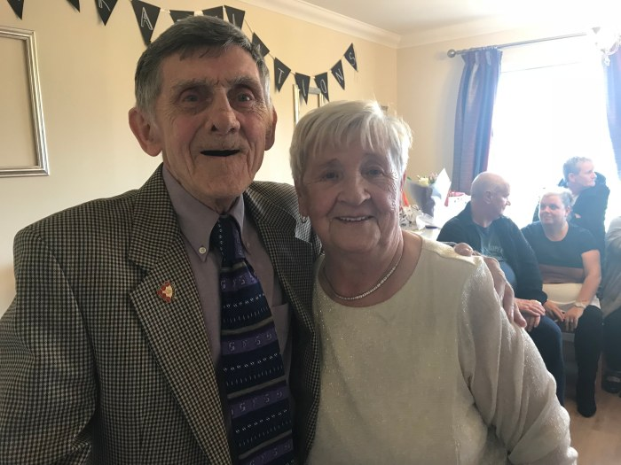 Joe and May on 60th anniversary at Bupa Home to be shared by Scottish PR Agency