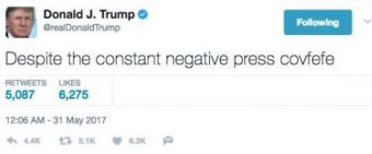 Trump's covfefe tweet