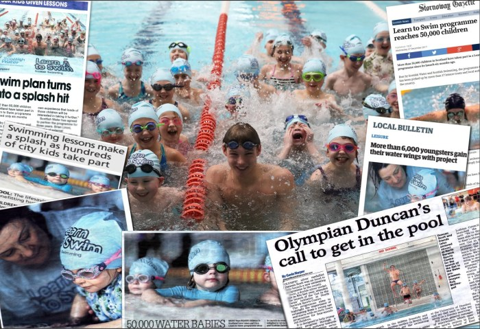 Scottish PR agency Holyrood PR help their client Scottish Water to gain UK-wide media attention for their Learn to Swim campaign.